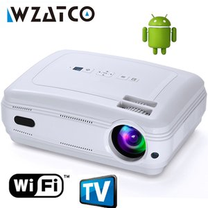 Upgrade 5500lumens TV LED Projector Android 9.0 Smart WIFI Airplay Miracast Bluetooth HD Proyector Beamer Multi for Home theater