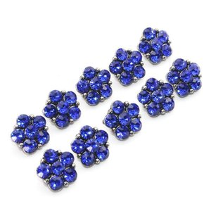 6 colori 10pcs lot crystal 12mm metallo snaps bottone per braccialetto da donna in metallo snap orecchini gioielli h jllgzt