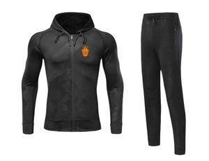 20 21 Newest RCD Mallorca Jacket Footbal Jersey Pant Adult Soccer Set winter tracksuit men Jacket warm suits