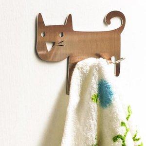 Cat-shaped Wall Mount Tool Storage Wall Clothes Key Hooks Decorative Kitchen Hook Metal Rack Hanger Door Drop