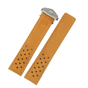 20 22mm Real Calf Leather Grey Suede Strap VINTAGE Replacement Wrist Watchbands Leather Watch Strap Belt For Tag
