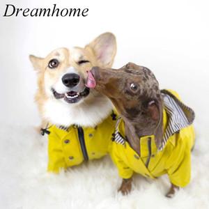 Pet Dog Clothes for Puppy big Dog Jacket Windproof Rainproof Raincoat Dog Sport Hoodies Jackets Popa Perro