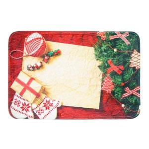 anti-slip Christmas Rug Kitchen Dining Room Christmas Doormat 40x60cm Anti-slip Blanket Rug Home Decor Floor Carpe