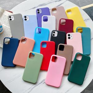 Ultra Slim Matte bonbons couleur souple en TPU pour iPhone 12 11 Pro Max XS MAX XR X 8 7 6 Plus SE 2020 Samsung S20 FE Note 20 Ultra A51 A71 A21S
