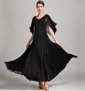 Großhandel billig sexy frauen mädchen chiffon schwarz elegante ballroom dress1