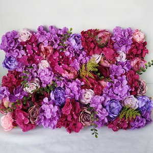Artificial Hydrangea Peony Rose Floral 3D Wedding Flower Wall Panels for Stage or Backdrop Planning Wedding Event Decorations T200716