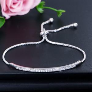 Wong Rain 100% 925 Sterling Silver Argento creato Moissanite Gemstone Bangle Bangle Bracciale Diamanti Diamonds Bracciali Fine Gioielli regalo all'ingrosso 201209
