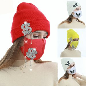 Thick Warm Winter Beanie Hat for Women Girls Soft Stretch Knit Cap Casual Outdoor Skull Hat Fashion Beanies Windproof Masks Kimter-L973FA