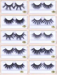 Wholesale 25mm Lashes 10 styles 25 mm False Eyelashes Thick Strip Mink Lashes Makeup Dramatic Long Mink Eyelashes In