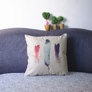 Feather pattern cotton sofa cushion covers Home Decorative pillow cases