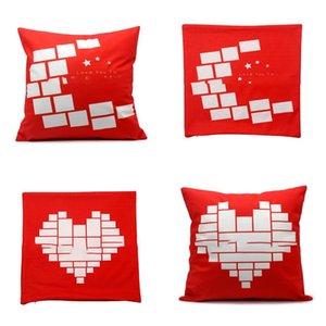 Sublimação Em branco Pillowslip Love Heart Fronha Caso Simplicidade Homens Mulheres Travesseiros Capa de Estrela da Moon New Chegada 8ex P2
