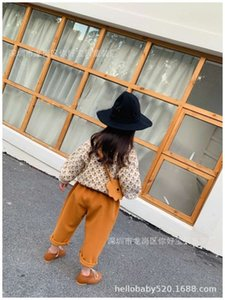 new Autumn winter MF 2020 same jacquard sweater for boys and girls, bract pants, straight pants