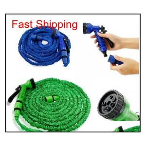 100ft Expandable Flexible Garden Magic Water Hose With Spray Nozzle Head Blue Green With Retail Bo qylBZU bde_luck