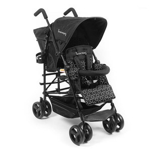 Leichter amerikanischer Kinderwagen-Twin-Baby-Trolley-tragbarer Baby-Regenschirm-Auto kann sitzen und liegen vier Räder-Kinderwagen1