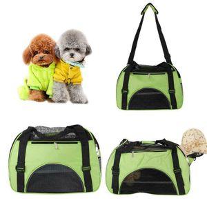 New Pet Carrier Totes Shoulder Bag Cat Dog Puppy Soft Sided Travel Large Green