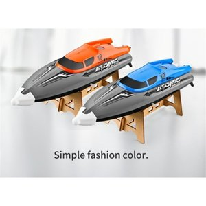 RC Barcos 2.4G Alta Velocidade Remoto Barco de RESTIBE RESET RESET Speed Boat Jogo de água Barco Brinquedo Crianças Controle Remoto Brinquedos Xmas Presente 201204