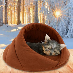 Warm Dog Bed Pet Dog House Soft Suitable Fleece Cat Bed House for Cushion Cat Sleeping Bag Nest High Quality 10c15