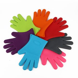 Silicone Kitchen Baking Gloves Microwave Oven Non-slip Mitt Heat Resistant Silicone Home Gloves Cooking Baking gloves Holder FWB3513