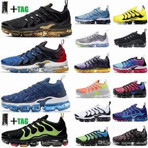 2021 Nuovo vapori Tn Inoltre Sneaker geometrica attivo Fuchsia Spirito Teal Running Shoes Cuscino Designer Calzature verdi Mens Donne Trainer Size 12 13