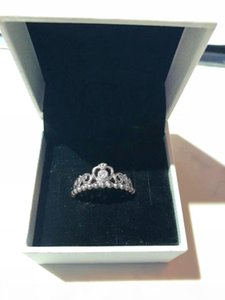 K Authentic 925 Sterling Silver Rings Women Girls Jewelry For Princess Tiara Crown Ring With Original Box Wedding