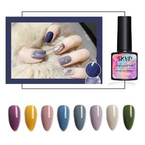 8ML Pure Color Series Gel Polish Polish Sak Off Off Permapal Nude UV GEL Nail Art Manicure Primer Lacquer