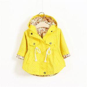 Joyhopy весенние осень девочек куртки повседневная верхняя одежда с капюшоном