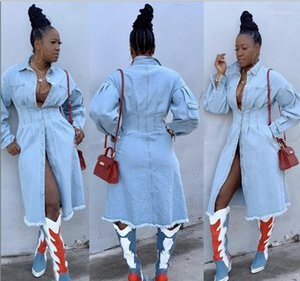 Back Up Cardigan Coats Designer Female Autumn Slim Casual Jackets Womens Long Jean Outerwear Fashion Long Sleeve