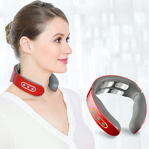 Relieve Neck Massager Instrument Body 9 Strength Multipurpose Cervical Beauty Health Electrotherapy Apparatus Neck Protector VTKY2046
