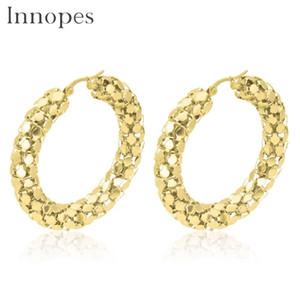Innopes orecchini di gioielli di moda Catena di gioielli Big Golds Hoop orecchino per donne regalo gioielli in acciaio inox