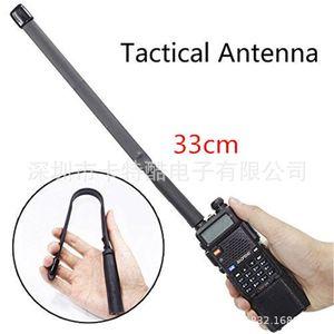 20pcs 2020 CS Tactical Antenna SMA-Female Dual Band VHF UHF 144 430Mhz Foldable For Walkie Talkie Baofeng UV-5R UV-82 UV5R