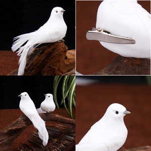 DIY FOAMS CLIQUE DE DOVE Blanc Feuler 12pcs Costume Artificial Bird Shop Decoration Pigeon Pigeon Sale 1 55ky G2