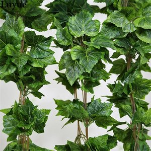 Luyue 10PCS Artificial Silk Grape Leaf Garland Faux Vine Ivy Indoor  Outdoor Home Decor Wedding Flower Green Leaves Christmas Q1126