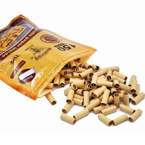 150 шт. / Сумка Одноразовый табачный сигаретный фильтр наконечник предварительно проката для курения сигареты фильтры держатель прокатки бумаги советы 18 * 6 мм DHL доставка