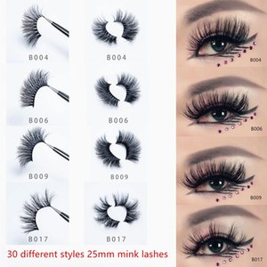 Handmade Wholesale 3D 5D 25mm Mink Lashes Reusable Eyelashes Natural Soft Makeup False Eyelashes with Silver Box