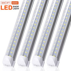 25 pack LED Tube Lights V shaped 270 angle 4ft 60W Bar Lamp T8 Integrated Bulb Fixture Linkable Super Bright6000k Cold White