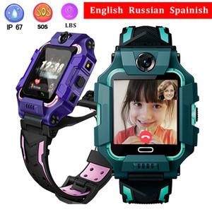 Q19 Kids Smart Watch lbs Position Q12 Telefon Uhr Dual Kamera SOS Voice Chat Kinderuhr Geburtstagsgeschenk Rot Blau Purpurrote Farbe