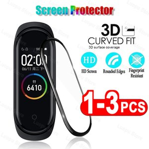 3D الزجاج الواقي ل xiaomi band 5 4 زجاج فيلم ل mi band5 الذكية watchband 5 لينة حامي الشاشة الزجاج ل mi band 4 5