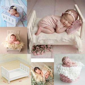 Newborn Props For Photography Wood Detachable Bed Photo Shoot Accessories Photography Props Photo Studio Crib Baby Posing Sofa