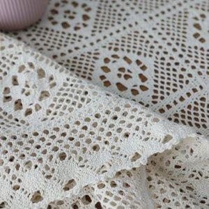 Roupa de mesa para retângulo de casamento Mesas de crochet capa Handmade Hollow Tecelagem Toalha de Tablecloth Home Sala de estar Decoração Jlljge