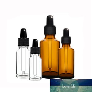 5Pcs 5ml 10ml 15ml 20ml 30ml 50ml Amber clear Empty Spray Dropper Bottle Storage Container Refillable Glass Essential Oil Bottle Gxnkg