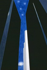 Georgia O'Keeffe City Night Home Decor Handpainted &HD Print Oil Paintings On Canvas Wall Art Pictures 7709