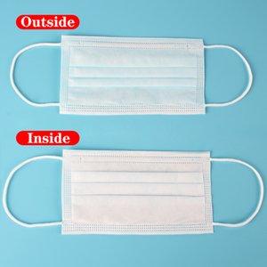 3 Schichten staubfeste Masken Einweg-Gesichtsmaske mit elastischen Ohrringen Einweg-Anti-Staubschutzmaske GGB2624