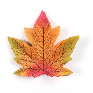 50pcs lot 8cm Maple Leaf Autumn Artificial Maple Leaf Home Decoration Halloween Wedding Events Plant Decor DHF3588