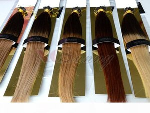 "Стоковая стока 100% Индийские волосы REMY OMBRE Нано колец Человеческие наращивания волос 18 ""20"" 1G S 100G Nano Ring Extensions 100 Летки"