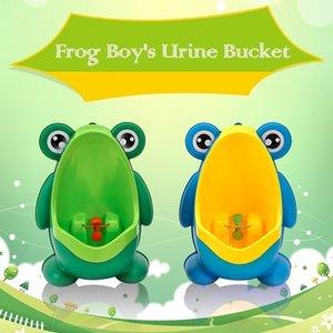 New Arrival Cute Frog Little Boy's Potty Toilet Urinal Pee Trainer Wall-Mounted Kid Boy Bathroom Frog Urinal Penico Pinico LJ201112