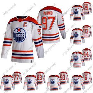 2020-21 Reverse Retro Connor McDavid Hóquei Jersey Edmonton Oilers Leon Draisaitl Anton Forsberg Zack Kassian Oscar Klefbom Nugent-Hopkins