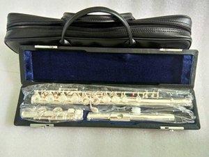실버 플루트 16 홀 폐쇄 C 키 플루트 CUPRONCKEL SHELLING FLATA 횡단 악기 뮤지컬 플루트 및 하드 박스