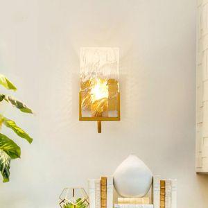 Postmodern minimalist Nordic crystal block wall-mounted light living room TV background wall aisle creative lamp YHJ011512