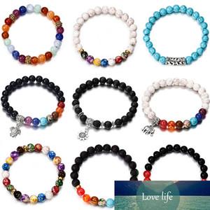 NS40 Charm Natural Stone Bracelets Brand Design Simple Summer Dumbbells Men Bracelets Hematite Beads Bracelet for Women Jewelry