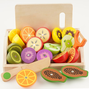 Wooden Toys Pretend Play Simulation Kitchen Series Cut Fruits And Vegetables Children's Educational Play House Toys Kids Gifts F1216